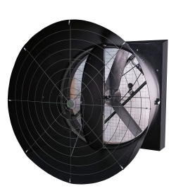 American Coolairu0027s New FGXM54 Damper Door Fans Are Designed To Be Mounted  Over A Wall Opening From 56.5 Inches To 58 Inches Square.